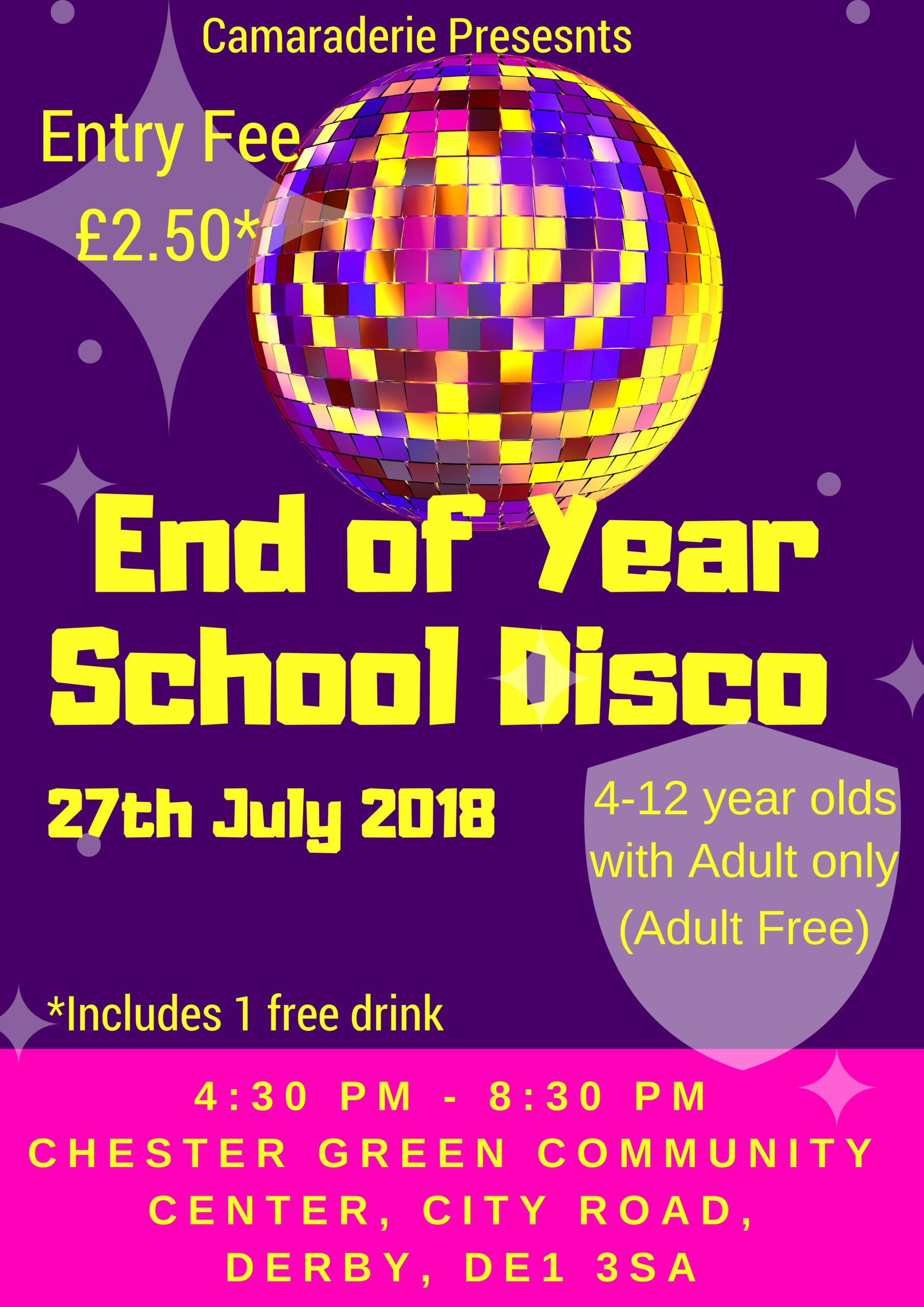 End Of Year School Disco